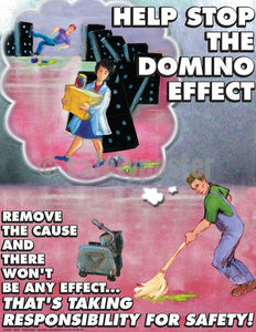 Safety Poster - Help Stop The Domino Effect - safetyposter.com