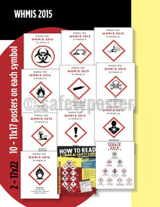 Safety Posters Pack - Whmis2015 Chemical Poster Packs