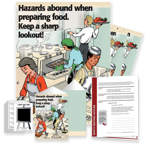 Safety Meeting Kit - Hazards Abound When Preparing Food Kits