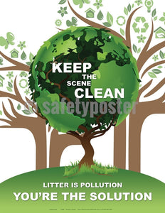 Safety Poster - Keep The Scene Clean - safetyposter.com