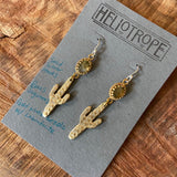 Faceted Labradorite Saguaro Earrings