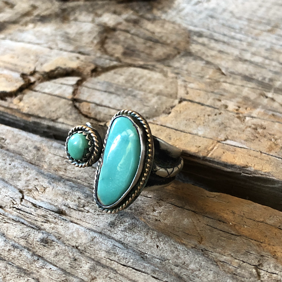 Turquoise Sidecar Ring