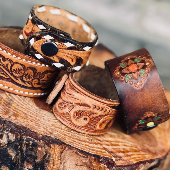 Vintage Leather Cuffs