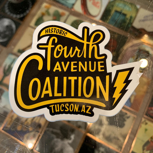 Sticker to benefit Historic 4th Avenue Coalition