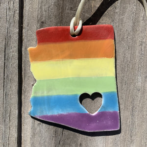 Pride Arizona Ceramic Ornament