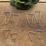 Triangular Hammered Hoops