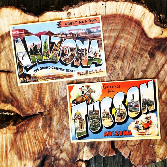 Greetings from Tucson and Arizona Postcard