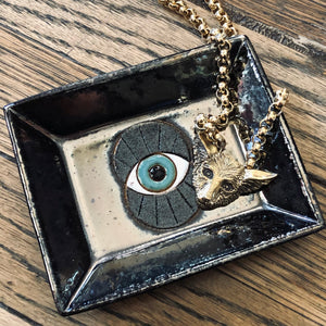 Ceramic All Seeing Eye Dish