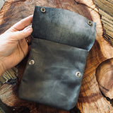 Soft Leather Snap Pouches