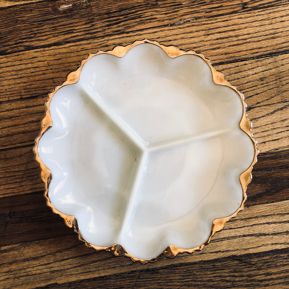 Milk Glass Tray