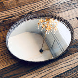 Vintage Gold Metal & Mirrored Tray