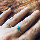 Delicate Silver and Turquoise Ring