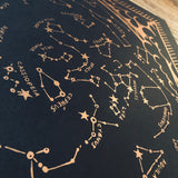 Star Constellation Map Poster Print
