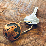 Copper Overlay Keychain