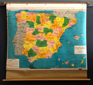 Pull Down Map of Spain