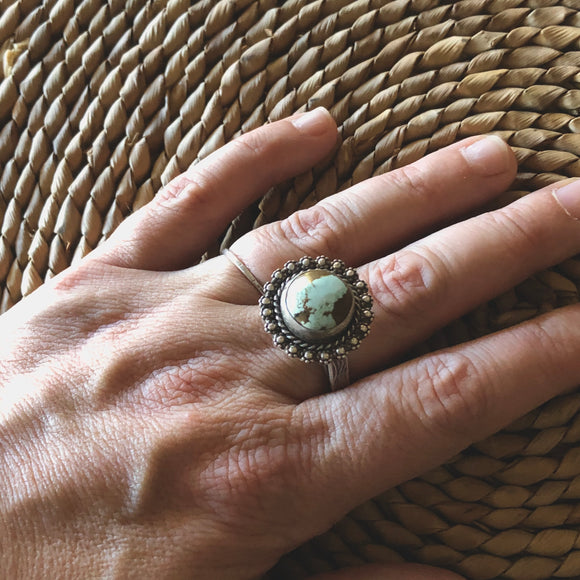 Round Turquoise Mile High Ring
