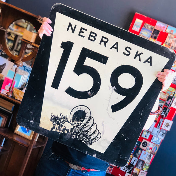 Vintage Nebraska Highway Sign
