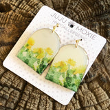 Large Resin Coated Dropdown Earrings