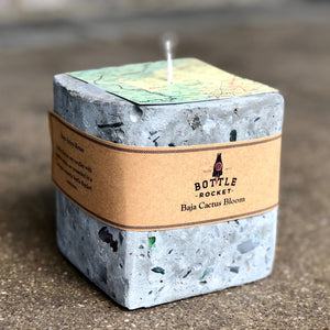 Soy Candle in Concrete Cube