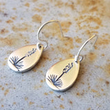 Blooming Agave or Sotol Drop Earrings