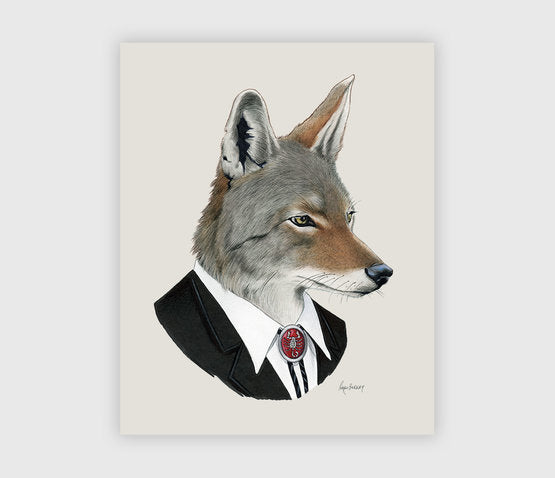 Dapper Animal Art Prints 8X10