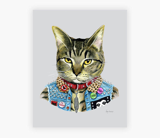 Fancy Cat Art Prints