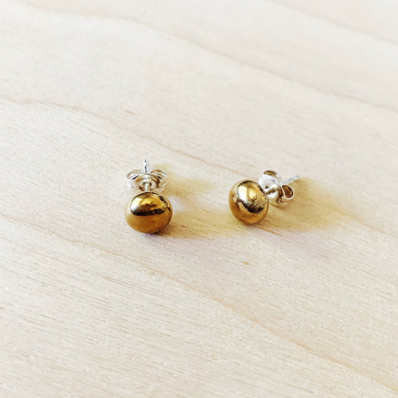 Bronze Nugget Stud Earrings