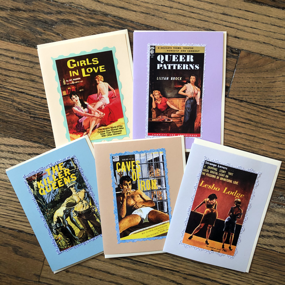Gay Pulp Greeting Cards