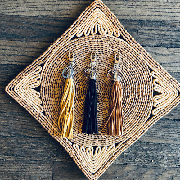 Leather Fringe Key Clip