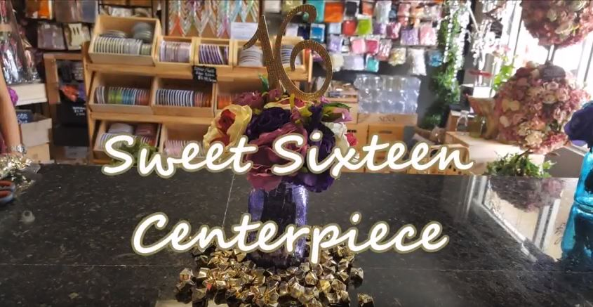 DIY Sweet Sixteen Centerpiece