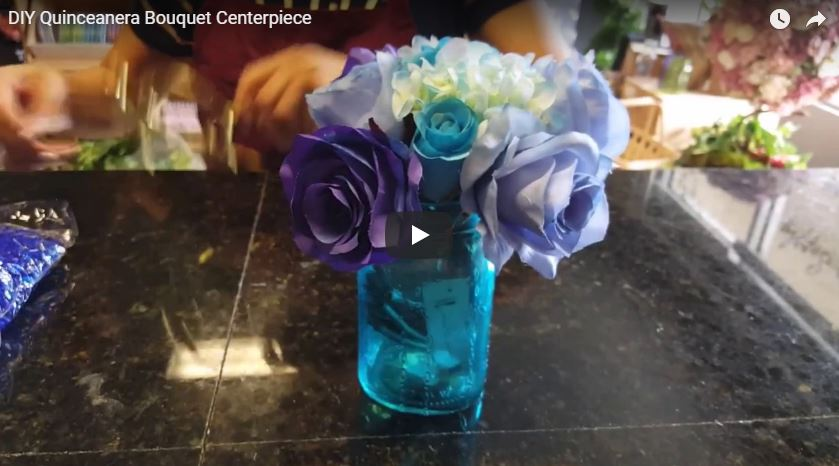 DIY Quinceanera Bouquet Centerpiece