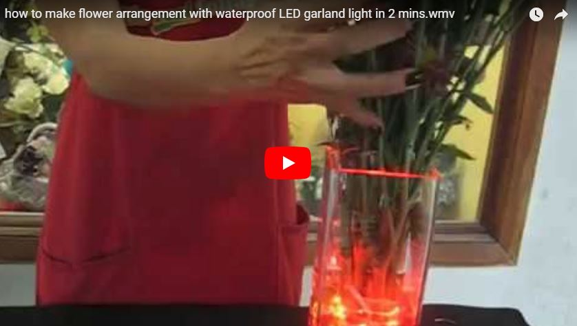 how to make a flower arrangement with waterproof garland light