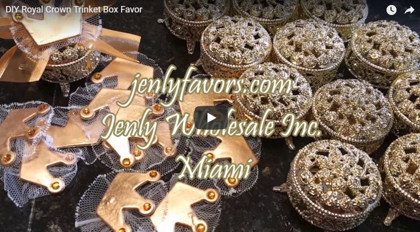 DIY Royal Crown Trinket Box Favor