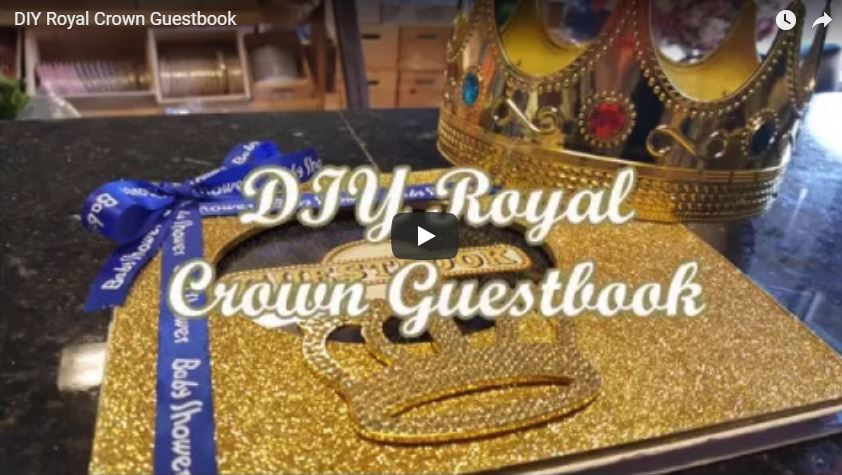 DIY Royal Crown Guestbook