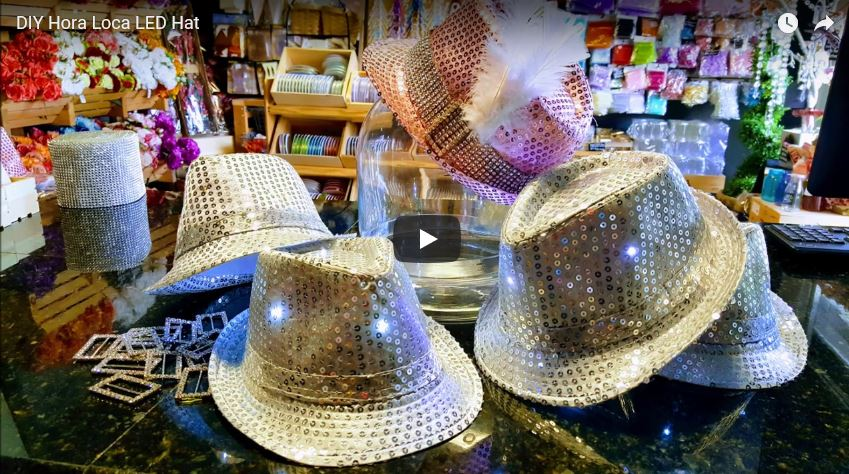 DIY Hora Loca LED Hat