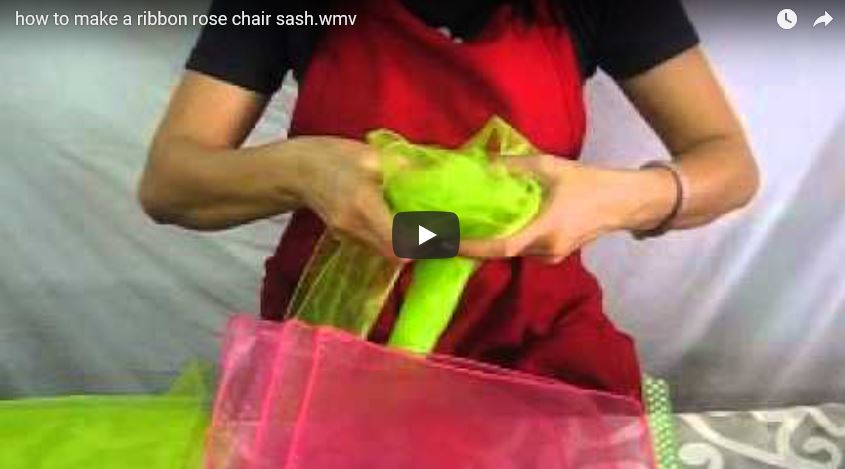 How to Make a Ribbon Rose Chair Sash