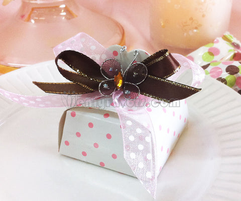 Do it yourself butterfly polka dot favor box
