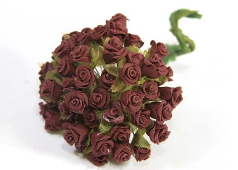 "0.3"" Burgundy Miniature Paste Flower (144 Flowers)"