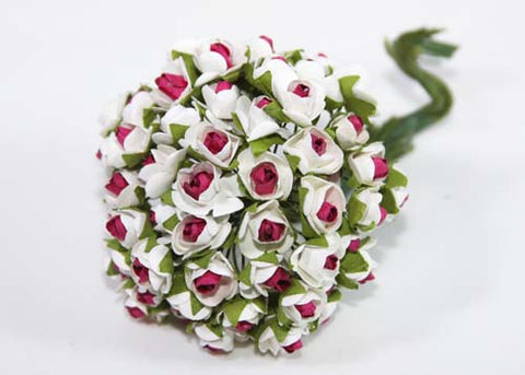 "0.5"" Burgundy Mini Paper Flower (144 Flowers)"