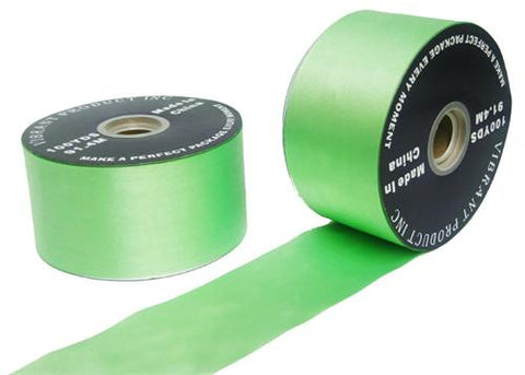 "#40 Mint Flora Satin Ribbon 2.75""X100 yards (1 Roll)"