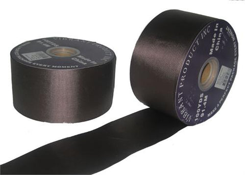 "#40 Brown Flora Satin Ribbon 2.75""X100 yards (1 Roll)"