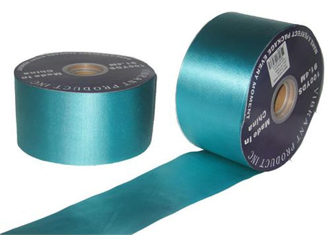"#40 Turqouise Flora Satin Ribbon 2.75""X100 yards (1 Roll)"
