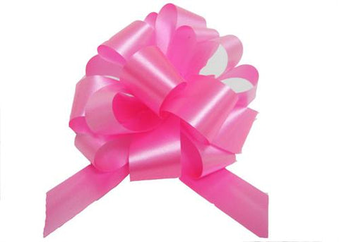 Medium Hot Pink Pull Bow (10 Pieces)
