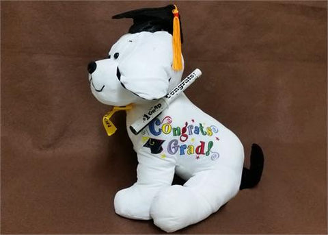 10.5 White Graduation Dog with Pen(12 Pieces)