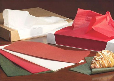 Waxed Tissue Paper - 24'' x 36''  400ct Red