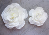 "12"" & 16"" Foam Backdrop Flowers for Beautiful Room Wall Decoration Ivory (2 Pieces)"