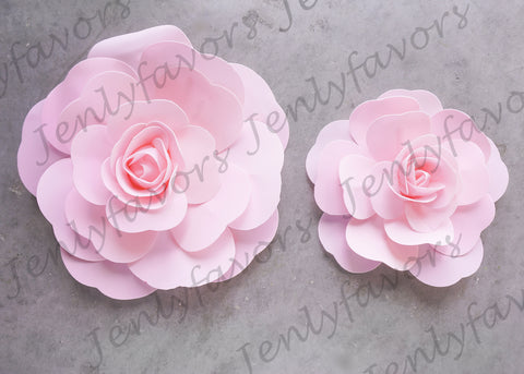 "12"" & 16"" Foam Backdrop Flowers for Beautiful Room Wall Decoration Pink (2 Pieces)"
