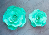 "12"" & 16"" Foam Backdrop Flowers for Beautiful Room Wall Decoration Tiffany Blue (2 Pieces)"