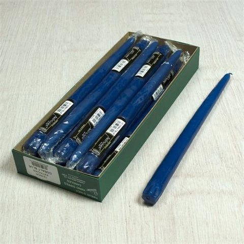 "12"" Cobalt Blue Taper Candle (Box of 12 Pieces)"