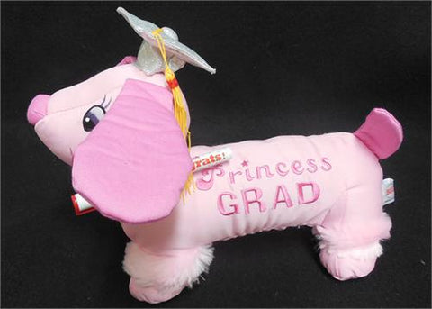 12 Pink Graduation Dog with Pen(12 Pieces)